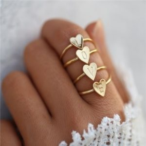 ring letter,initial,jewellery, trendy