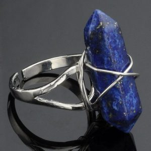 Ring With Blue Natural Stone.Click here for more beautiful rings. Shop all musthave jewellery by Aphrodite. Free worldwide shipping and gift.
