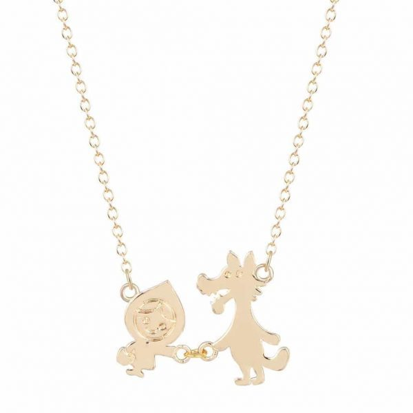 Little Red And The Wolf Necklace. Click here for more delicate necklaces. Shop all musthave jewellery by Aphrodite. Free worldwide shipping and gift.