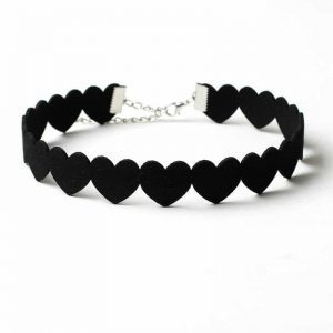 Choker With Black Hearts. click hear to shop more beautiful chokers. Shop all musthave jewellery by aphrodite. Free worldwide shipping and gift.