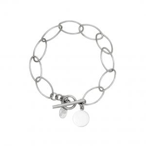 schakelarmband, zilver, munt, coin, sieraden, jewellery, accessoires, dames, chain, stainless steel
