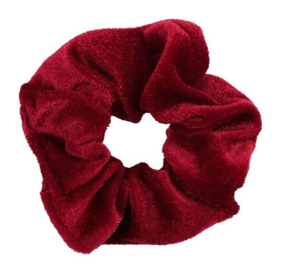 scrunchie, rood, haarwokkel, haaraccessoires, trendy