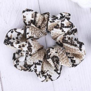 scrunchie, snake print, animal print, accessory