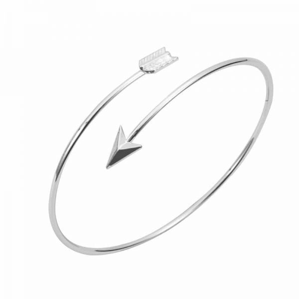 silver grande heather beck img bracelet products arrow designs
