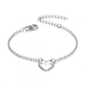 minimalistische armband, hart,hanger,sieraden