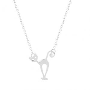 Minimalistische Zilver Ketting Met Kat.Klik hier voor meer leuke kettingen.Shop alle musthave sieraden bij aphrodite. Gratis verzending en cadeau.