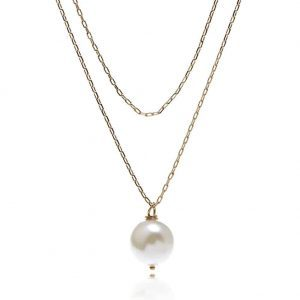 Layered Necklace With Pearl Pendant. Click hear for more beautiful layered necklaces.Shop all musthave jewellery by aphrodite.Free worldwde shipping.