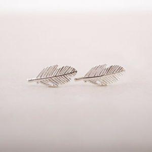 Minimalistische studs Oorbellen Zilveren Blad,sieraden,musthave