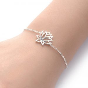 Silver Lotus Bracelet. Click here for more beautiful bracelets. Shop all musthave jewellery by Aphrodite. Free worldwide shipping and gift.