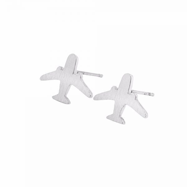 Silver Plane Earrings. Click here for more cute earrings. Shop all musthave jewellery by Aphrodite. Free worldwide shipping and gift.