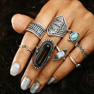 8 Pcs Silver Boho Ring Set.click hear to shop more beautiful rings. Shop all musthave jewellery by aphrodite. Free worldwide shipping and gift.