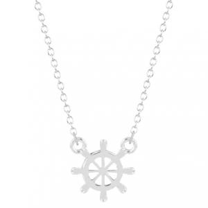 minimalist necklace, rudder,silver, jewellery , women