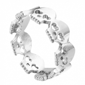 Zilveren Schedel Ring. Klik hier voor meer mooie subtiele ringen. Shop alle musthave sieraden bij Aphrodite. Gratis verzending en cadeau.