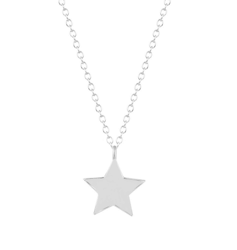 minimalistische ketting, ster ,zilver, sieraden, mooi