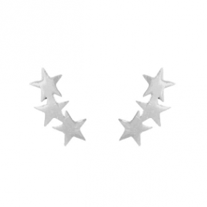 Silver Triple Star Earrings. Click here for more delicate earrings. Shop all musthave jewellery by Aphrodite. Free worldwide shipping and gift.