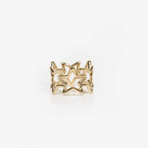 star ring, jewellery, gold, fashion, trendy