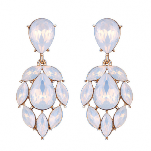 Statement Earrings With White Crystals. click here for more beautiful statement earrings.shop all musthave jewellery by aphrodite.Free worldwide shipping