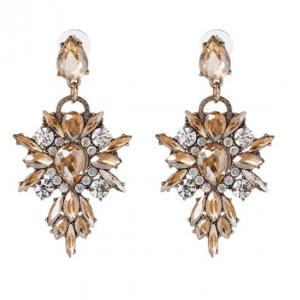 Statement Oorbellen, bruin, kristallen , sieraden, fashion