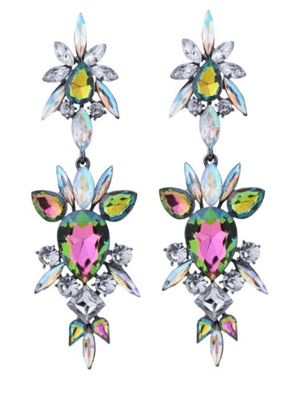 Statement Earrings With Crystal.Click here for more beautiful statement earrings.Shop all musthave jewellery by Aphrodite.Free worldwide shipping and gift.