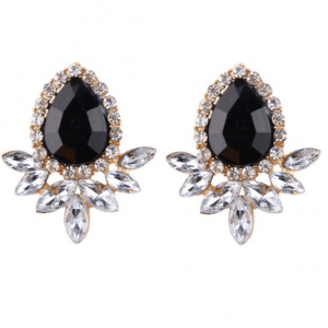 Statement Earrings With Black Crystal. click here for more beautiful statement earrings. shop all musthave jewellery by aphrodite.free worldwide shipping.