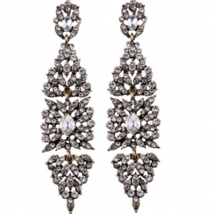 Statement Earrings Vintage With Crystals.Click hear for more beautiful statement earrings.shop all musthave jewellery by aphrodite.free worldwide shipping.