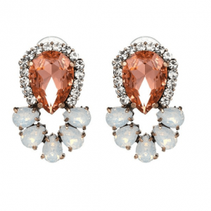 Statement Earrings With Crystals- Champagne.click here for more statement earrings.shop all musthave jewellery by aphrodite.Free worldwide shipping