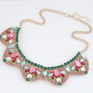 Colorful Statement Necklace. click hear to shop more statement necklaces. Shop all musthave jewellery by aphrodite. Free worldwide shipping and gift.
