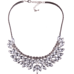 Statement Necklace With Rhinestones. Click here for more beautiful statement necklaces. Shop all musthave jewellery by Aphrodite. Free worldwide shipping.