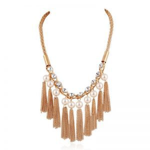 Statement Necklace With Tassels. Click here for more beautiful statement necklaces. Shop all musthave jewellery by Aphrodite. Free worldwide shipping.