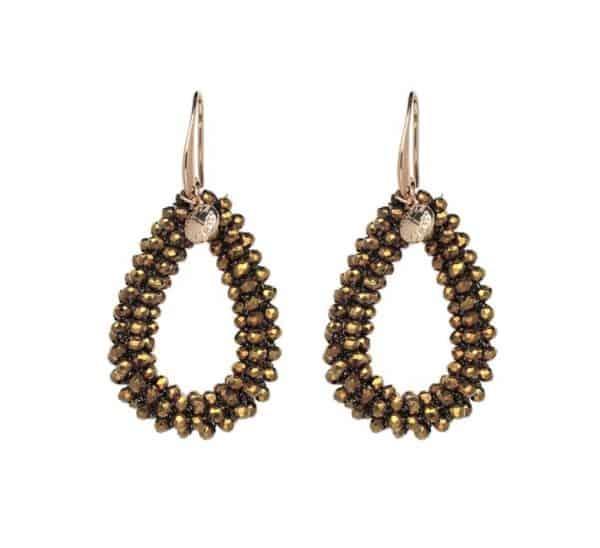 statement oorbellen, kralen, groot, kerst, sieraden, accessoires, dames, jewellery, goud