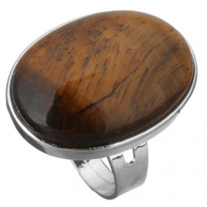 Statement Ring Met Bruine Steen. Klik hier voor meer mooie ringen met stenen. Shop alle musthave sieraden bij Aphrodite. Gratis verzending en cadeau.