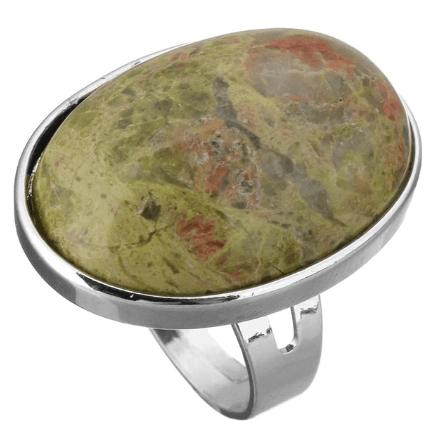 statement ring, groene steen, zilver, sieraden, fashion