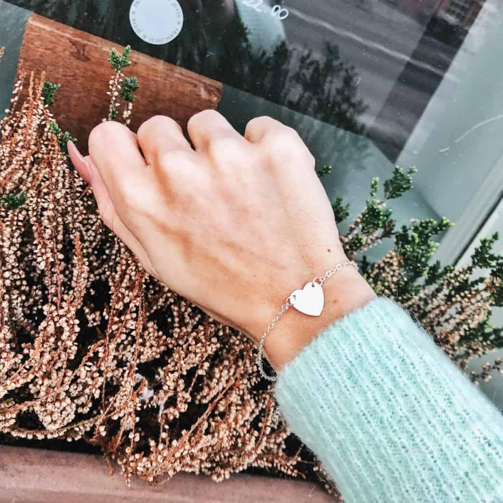 Minimalistische leuke armbandjes, hartje,goud