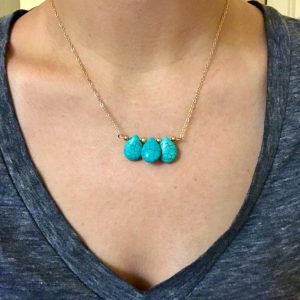 Necklace With Turquoise Stones. Click here for more beautiful necklaces. Shop all musthave jewellery by Aphrodite. Free worldwide shipping and gift.