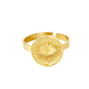 verstelbare ring, oog, goud, zilver, stainless steel, rvs, roestvrij staal, nikkelvrij