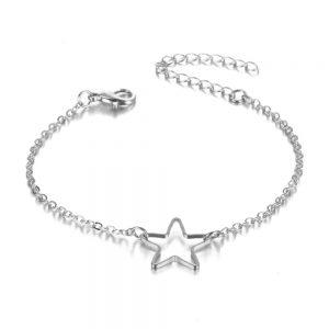 bracelet, star, silver ,gold, jewellery, fashion, trendy